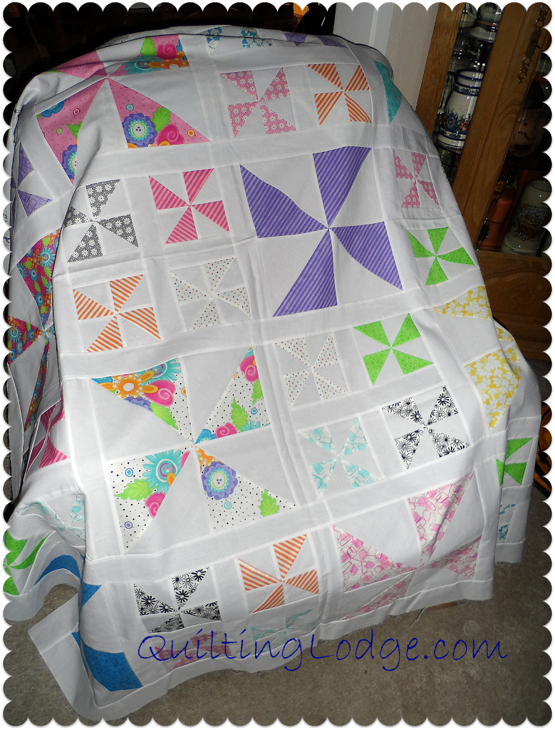 Layer Cake Quilt As You Go : Pinwheel Quilt Ready to Go - Orchid Owl Quilts